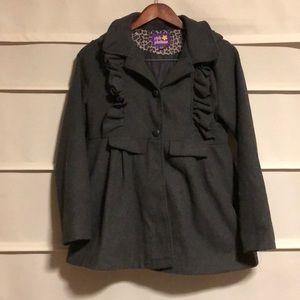 Girls winter dress coat